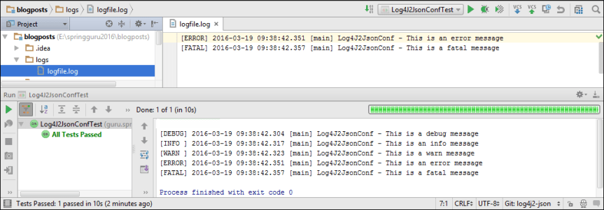 Log4J 2 Console and File Output