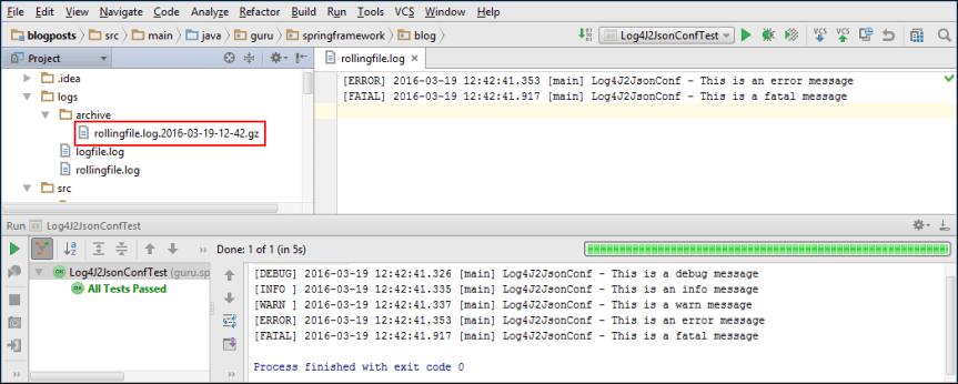 Log4J 2 YAML Output of Rolling File