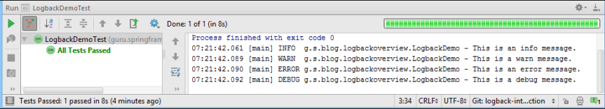Log Output in Console