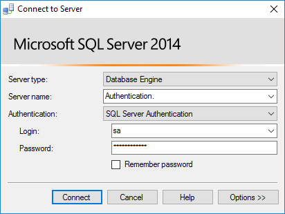 Connect To SQL Server