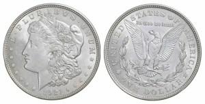 1921 Morgan AU Coins Almost Uncirculated Morgan Silver Dollar Coins