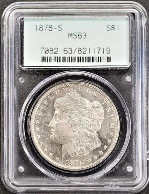M04-1 1878 -S Morgan Silver Dollar