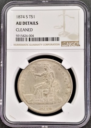 AC-5 1874 Trade Dollar