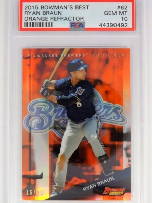 F49: 2015 Bowman's Best Ryan Braun #62