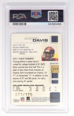 2002 Topps Finest Andre Davis #129