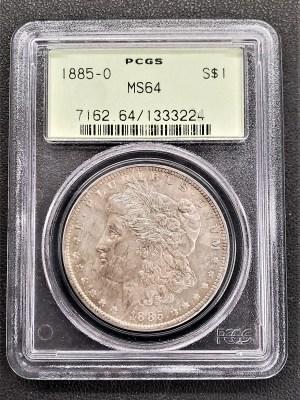 M04-49 1885 Morgan Silver Dollar PCGS MS64