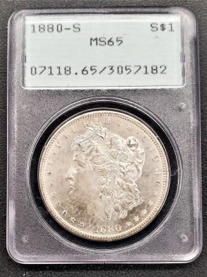 M04-9 1880 Morgan Silver