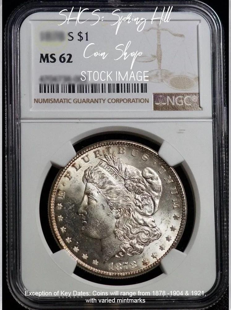 Morgan NGC MS62 DC