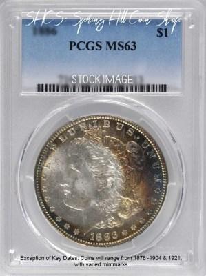 1878-1904 Morgan PCGS MS63 1921 Morgan PCGS MS63 1921 Morgan NGC MS63 Morgan PCGS MS63 DC