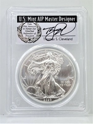 SE33 2020 PCGS MS70 FIRST DAY CLEVELAND DISABLED -1