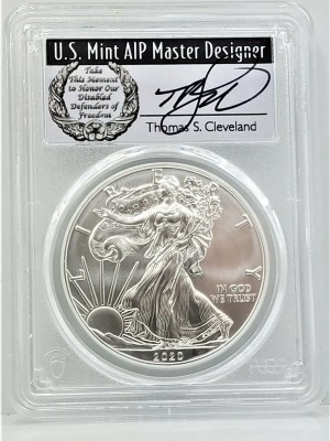SE38 2020 PCGS MS70 FIRST DAY CLEVELAND DISABLED -1