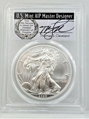 SE42 2020 PCGS MS70 FIRST DAY CLEVELAND DISABLED -1