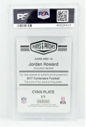 2018 Panini Plates & Patches #MC-19 Jordan Howard