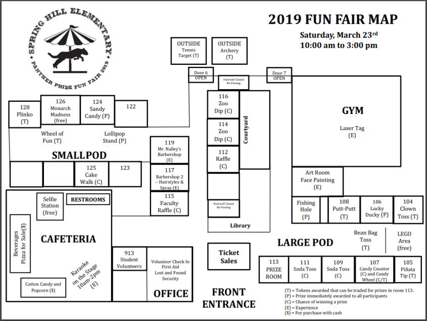 2019 Fun Fair Map