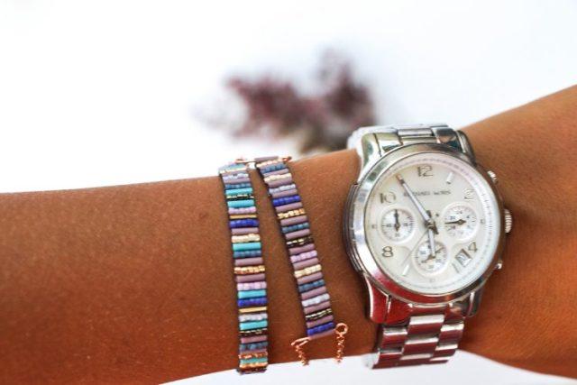 DIY buggle bracelet porté