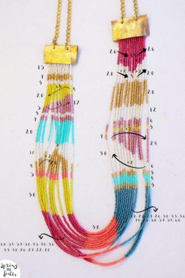 collier perles numbers