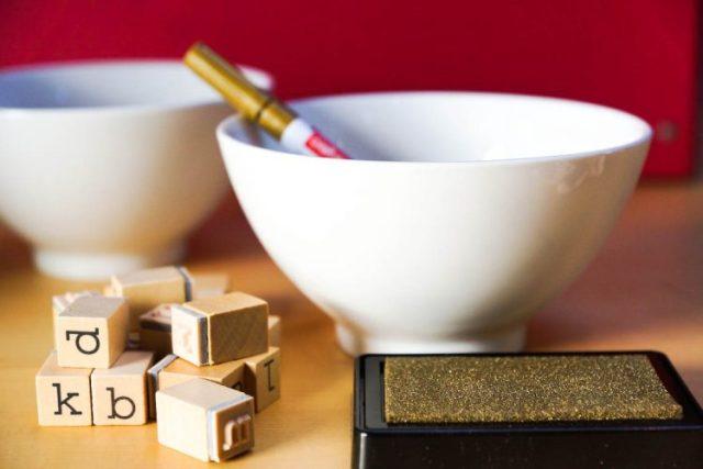 diy gold decorated lip bowl material (1 of 1)