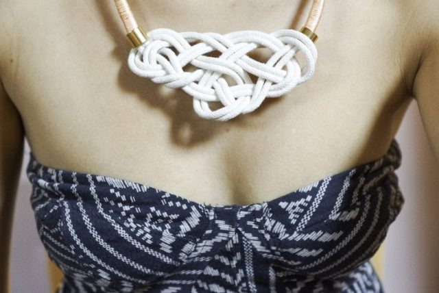 nautical knot necklace