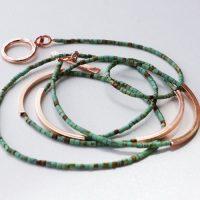 DIY bracelet wrap : turquoise & rose gold
