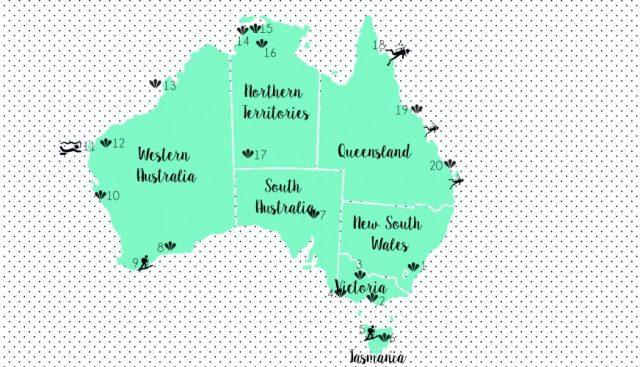 Map australia HIGHLIGHTS