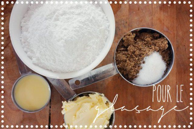ingédients glaçage caramel salé
