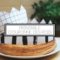 DIY couronne galette des rois (printable)