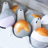 DIY œufs de pâques en béton