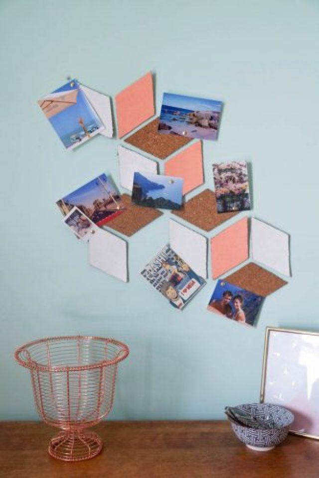 DIY tableau de liège cubique. Tutoriel et matériel!