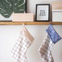 DIY Grid Pattern Christmas Stocking