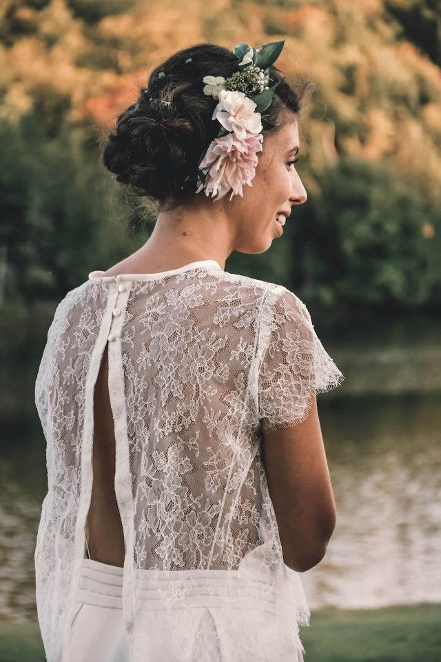 DIY wedding dress lace top