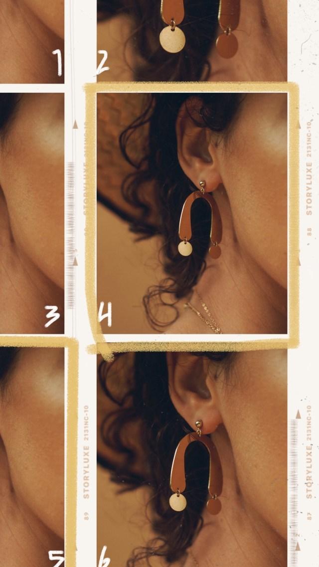 DIY geometric earring