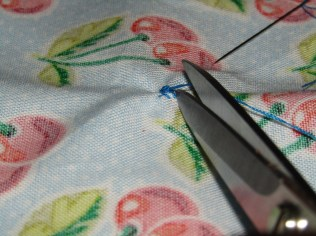 Sew, a Needle Pulling Thread