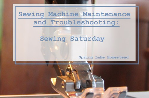 Sewing Machine Maintenance and Troubleshooting