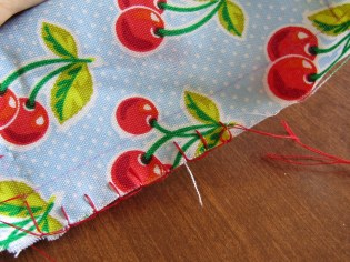 You can attempt this stitch with varying spacings to see what you are most comfortable with or to see what will look best on your project. Front side.