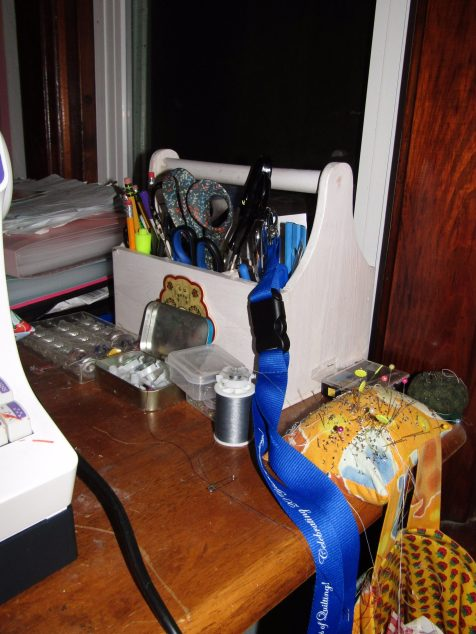 Throw Pillow and Sewing Tools