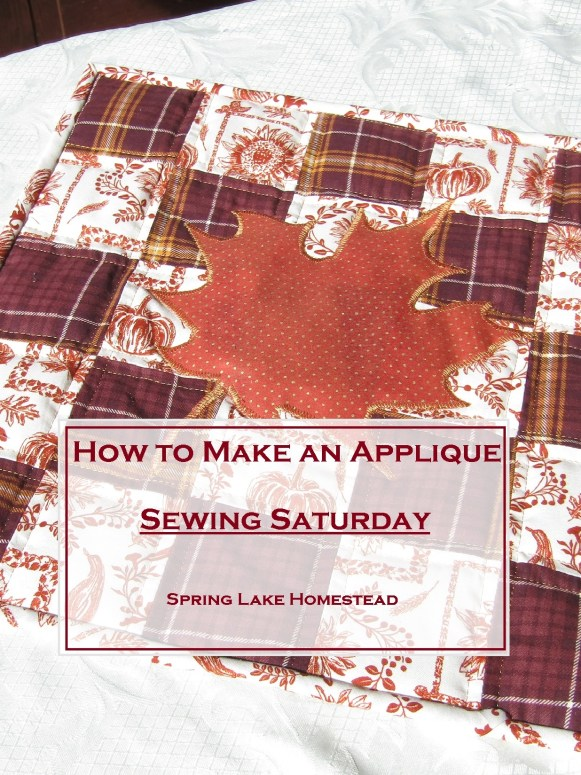 How to Make an Applique