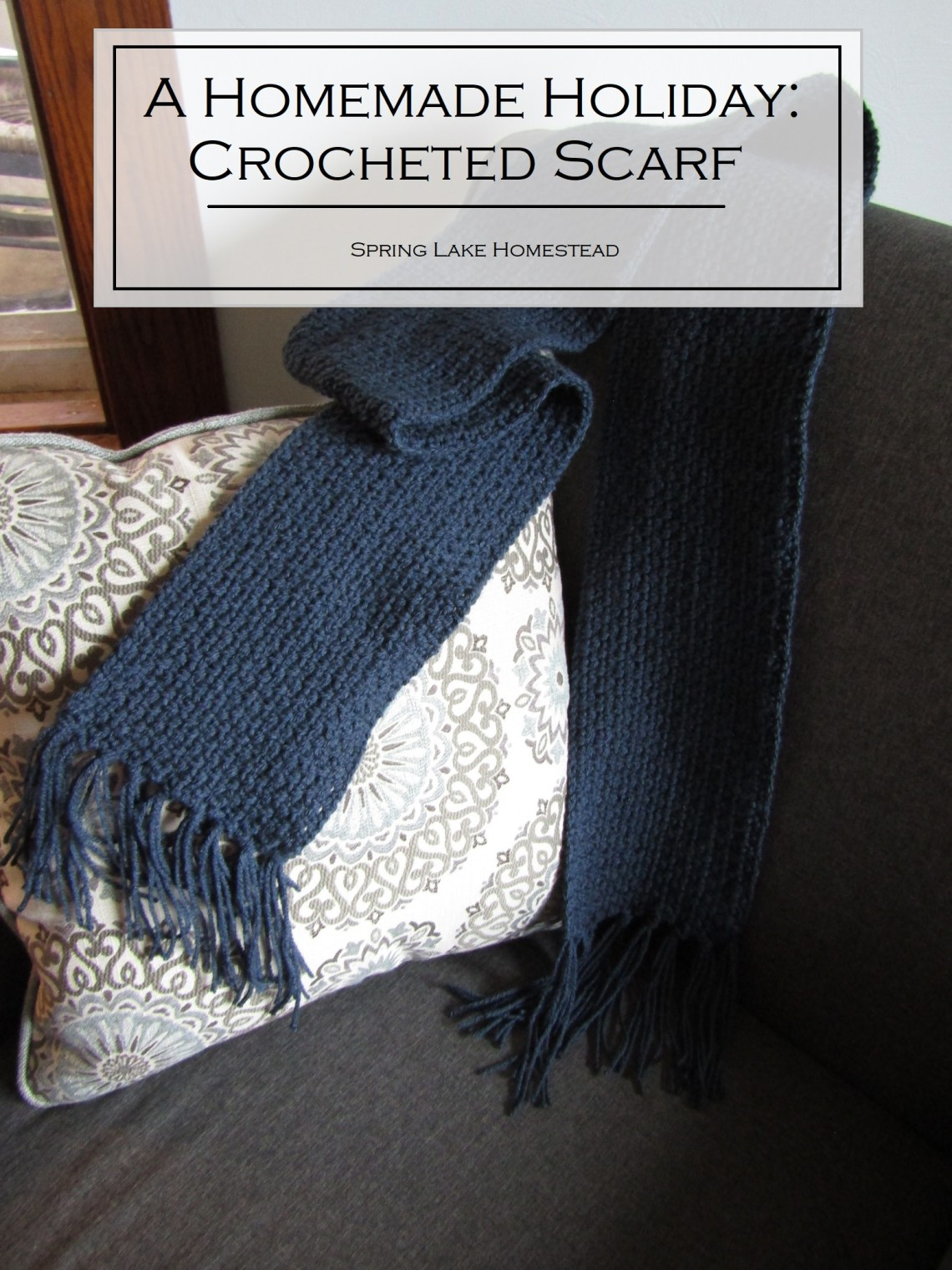 A Homemade Holiday: Crocheted Scarf
