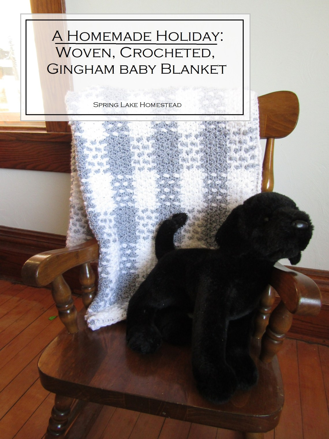 Woven, Crocheted, Gingham Baby Blanket