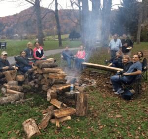 Enjoying Fall and Firepit