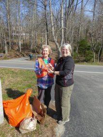 Pat Jenkins & Ruth Atkins 3-17-18 Roadside Cleanup