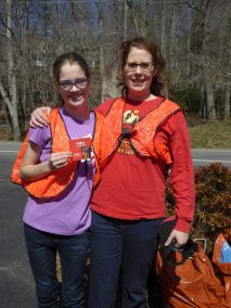 Lilly & Susie Dudman 3-17-18 Roadside Cleanup