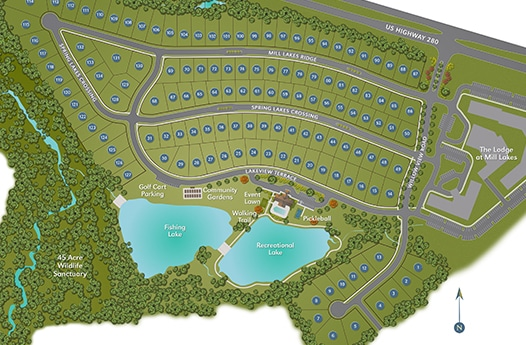 The Springs of Mill Lakes Site Plan