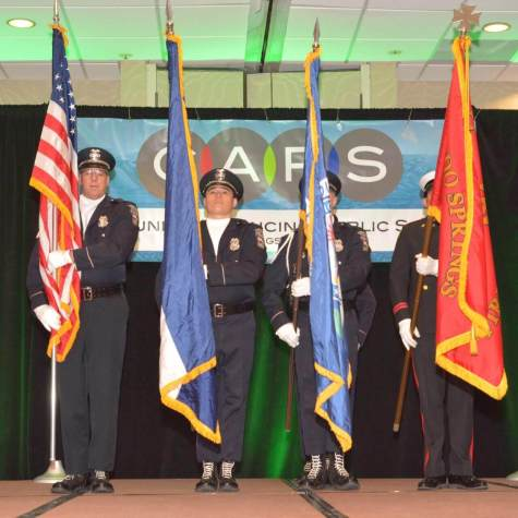 Honor Guard Presenting the Colors at CAPS Annual Appreciation Luncheon