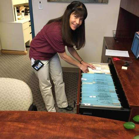 Emily created new volunteer folders for our CAPS Staff
