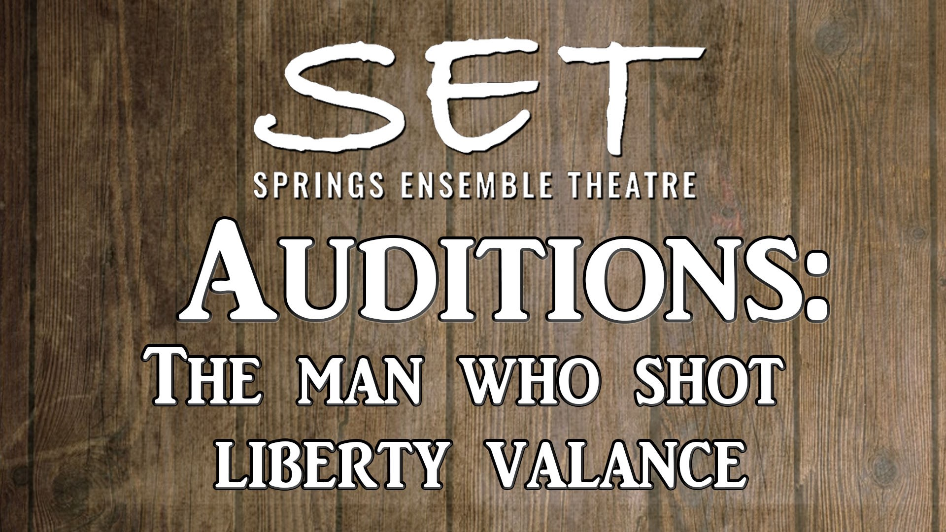 The Man Who Shot Liberty Valance Audition Cover