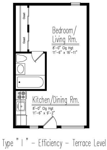 Type I Efficiency Floor Plan