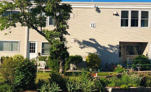 Apartment building 14 in the sun.