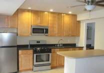 Studio kitchen with island
