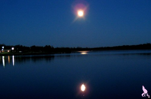 December 2012 by Springwolf © Grand Mother Moon Shines Over A Cold Winter Lake