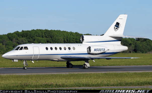 Dassault Falcon 50 N500TS Taxi to Takeoff